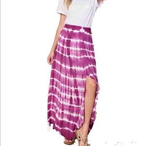 KORI Purple Tie-Dye Skirt